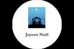Berceau de Noël Étiquettes de classement - gabarit prédéfini. <br/>Utilisez notre logiciel Avery Design & Print Online pour personnaliser facilement la conception.