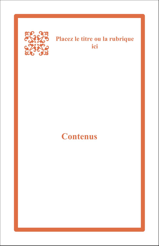 "5½"" x 8½"" Binder Insert Reliures - Concept Arc Orange"