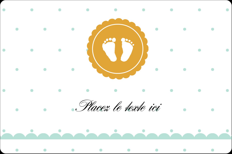 """3"""" x 3¾"""" Étiquettes rectangulaires - Empreintes de bébé"""