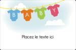 Combinaisons pour bébé Étiquettes rectangulaires - gabarit prédéfini. <br/>Utilisez notre logiciel Avery Design & Print Online pour personnaliser facilement la conception.