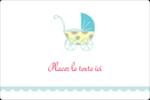 Poussette pour bébé avec tons bleus  Étiquettes rectangulaires - gabarit prédéfini. <br/>Utilisez notre logiciel Avery Design & Print Online pour personnaliser facilement la conception.