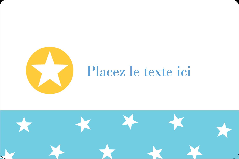 """2"""" x 3"""" Étiquettes rectangulaires - Étoiles avec tons bleus et jaunes"""