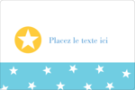 Étoiles avec tons bleus et jaunes Étiquettes rectangulaires - gabarit prédéfini. <br/>Utilisez notre logiciel Avery Design & Print Online pour personnaliser facilement la conception.