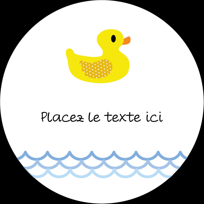 """4¾"""" x 3½"""" Étiquettes arrondies - Petit canard"""