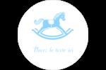 Cheval à bascule Étiquettes arrondies - gabarit prédéfini. <br/>Utilisez notre logiciel Avery Design & Print Online pour personnaliser facilement la conception.