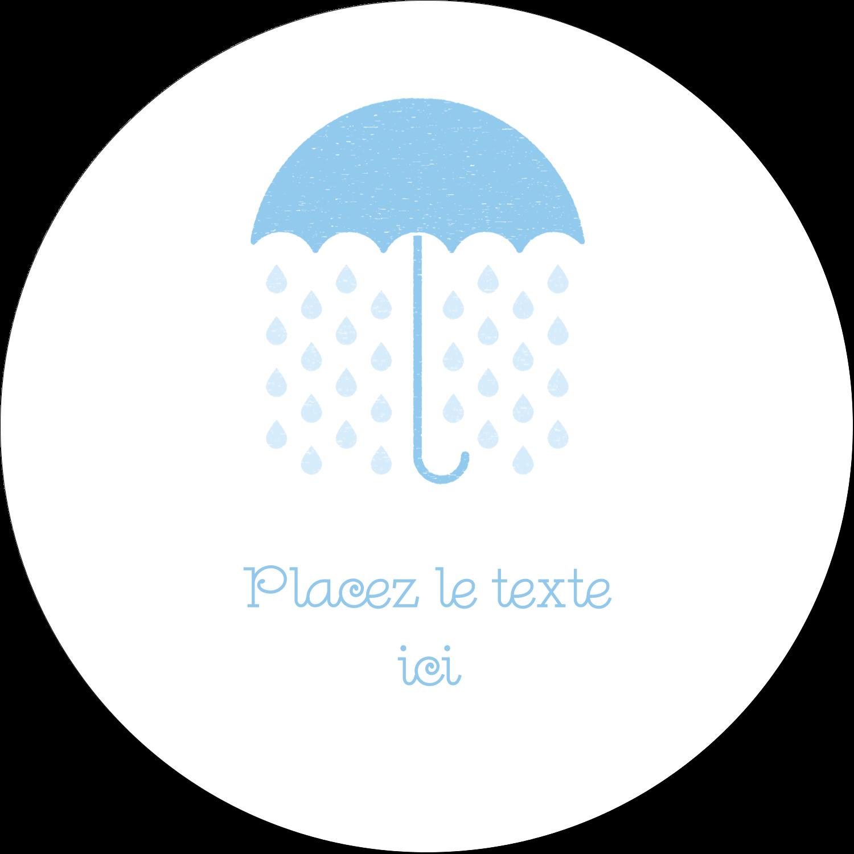 """4¾"""" x 3½"""" Étiquettes arrondies - Parapluie pour bébé"""