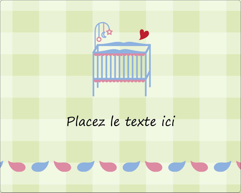 """2"""" Diameter Étiquettes rondes gaufrées - Lit de bébé"""