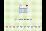 Lit de bébé Étiquettes rondes gaufrées - gabarit prédéfini. <br/>Utilisez notre logiciel Avery Design & Print Online pour personnaliser facilement la conception.