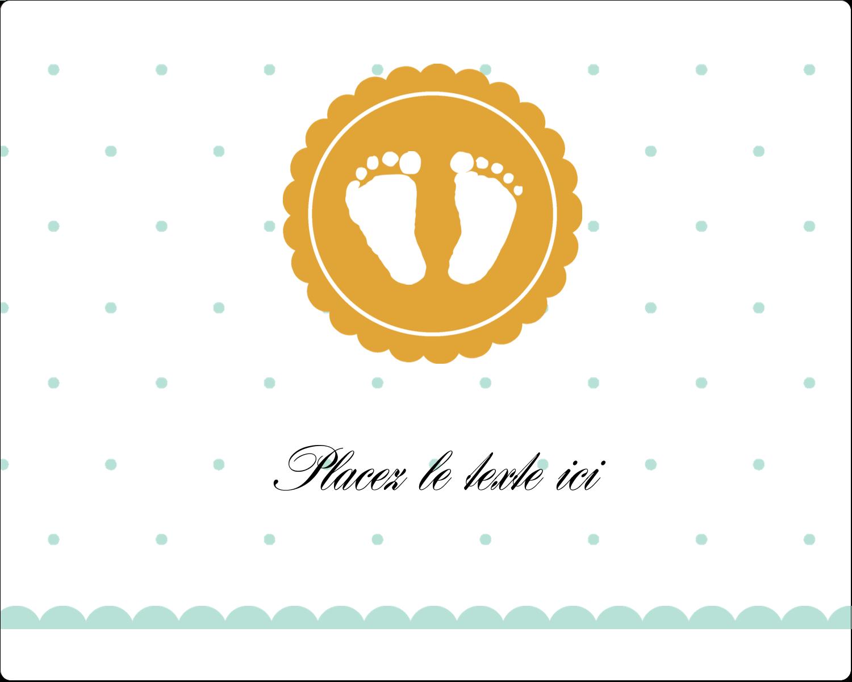 """2"""" Diameter Étiquettes rondes gaufrées - Empreintes de bébé"""