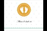 Empreintes de bébé Étiquettes rondes gaufrées - gabarit prédéfini. <br/>Utilisez notre logiciel Avery Design & Print Online pour personnaliser facilement la conception.