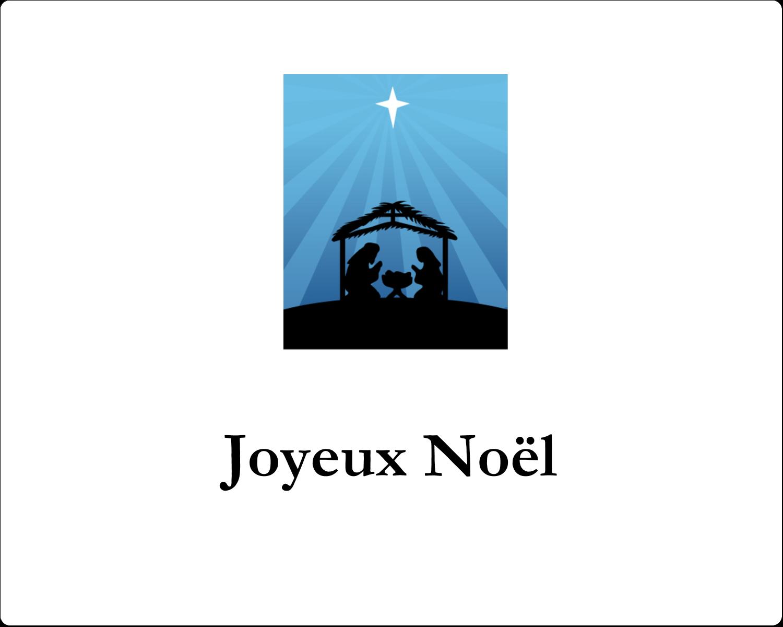 """3"""" x 3¾"""" Étiquettes rectangulaires - Berceau de Noël"""