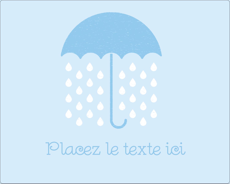 """2"""" Diameter Étiquettes rondes gaufrées - Parapluie pour bébé"""
