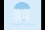 Parapluie pour bébé Étiquettes rondes gaufrées - gabarit prédéfini. <br/>Utilisez notre logiciel Avery Design & Print Online pour personnaliser facilement la conception.