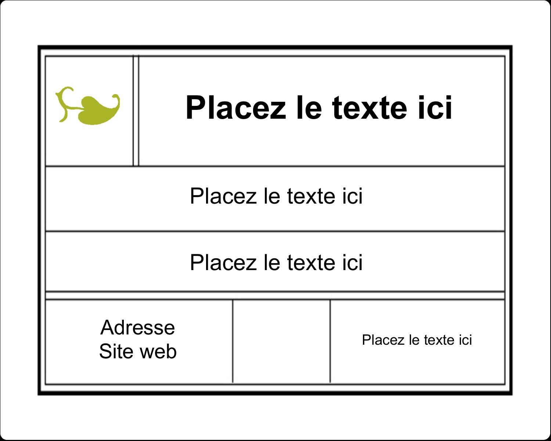 """3"""" x 3¾"""" Étiquettes rectangulaires - Modernité"""
