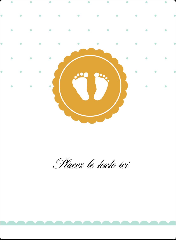 """2½"""" Diameter Étiquettes rondes - Empreintes de bébé"""