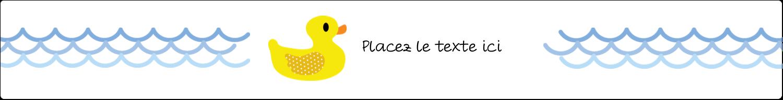 """1½"""" x 2½"""" Étiquettes ovales - Petit canard"""