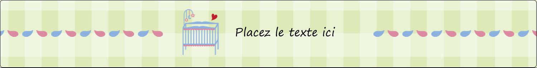 """1½"""" x 2½"""" Étiquettes ovales - Lit de bébé"""