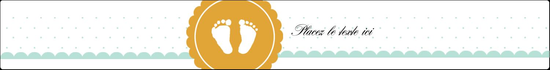 """1½"""" x 2½"""" Étiquettes ovales - Empreintes de bébé"""