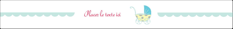 """1½"""" x 2½"""" Étiquettes ovales - Poussette pour bébé avec tons bleus"""