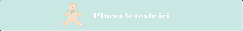 """1½"""" x 2½"""" Étiquettes ovales - Nounours pour bébé"""