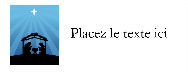 "1-7/16"" x 3¾"" Affichette - Berceau de Noël"