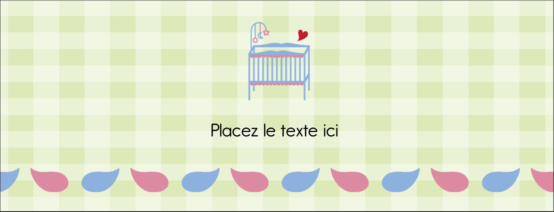 """1-7/16"""" x 3¾"""" Affichette - Lit de bébé"""