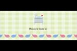 Lit de bébé Affichette - gabarit prédéfini. <br/>Utilisez notre logiciel Avery Design & Print Online pour personnaliser facilement la conception.