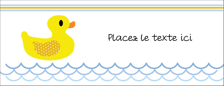 "1-7/16"" x 3¾"" Affichette - Petit canard"