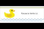 Petit canard Affichette - gabarit prédéfini. <br/>Utilisez notre logiciel Avery Design & Print Online pour personnaliser facilement la conception.