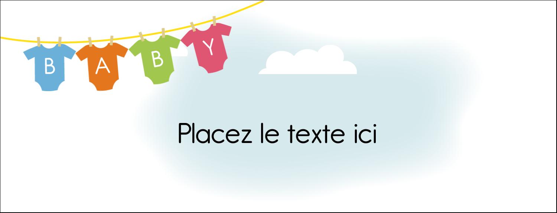 """1-7/16"""" x 3¾"""" Affichette - Combinaisons pour bébé"""