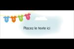 Combinaisons pour bébé Affichette - gabarit prédéfini. <br/>Utilisez notre logiciel Avery Design & Print Online pour personnaliser facilement la conception.