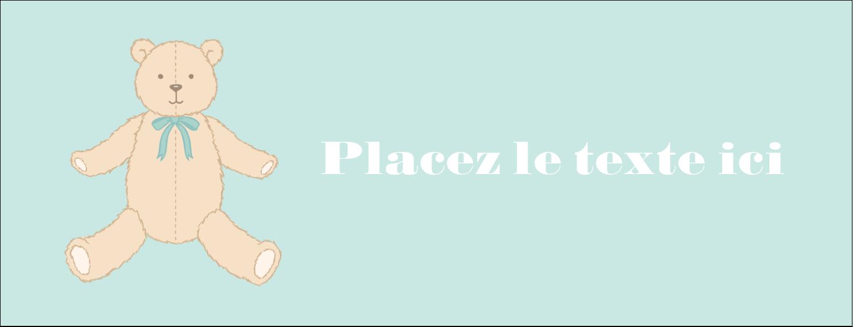 """1-7/16"""" x 3¾"""" Affichette - Nounours pour bébé"""