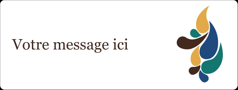 """1"""" x 4"""" Étiquettes d'adresse - Pinceaux modernes en tons naturels"""