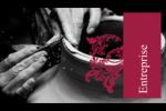 Art noir et rouge  Carte d'affaire - gabarit prédéfini. <br/>Utilisez notre logiciel Avery Design & Print Online pour personnaliser facilement la conception.