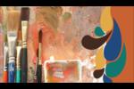 Pinceaux modernes en tons naturels Carte d'affaire - gabarit prédéfini. <br/>Utilisez notre logiciel Avery Design & Print Online pour personnaliser facilement la conception.