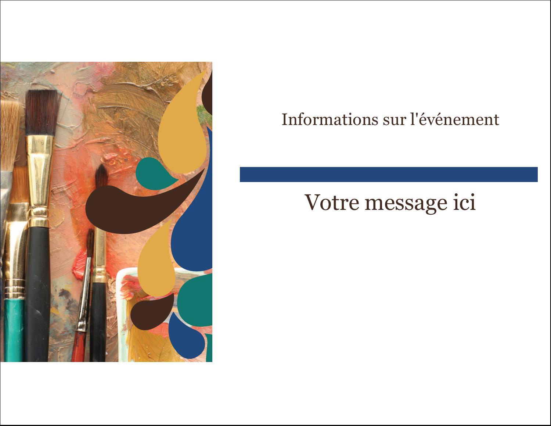 """4¼"""" X 5½"""" Carte Postale - Pinceaux modernes en tons naturels"""