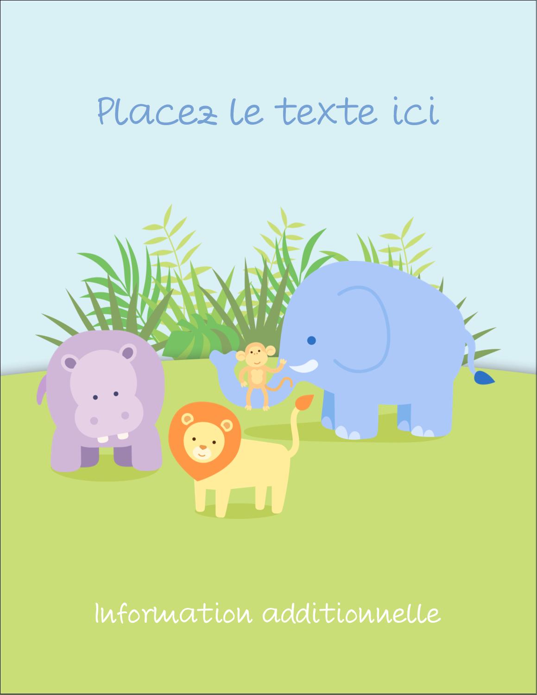 """5½"""" x 4¼"""" Carte Postale - Bébé safari"""