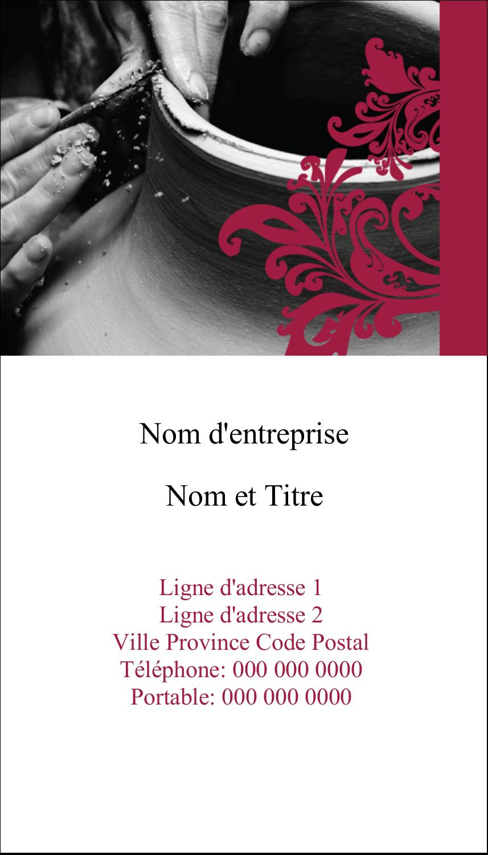 """3½"""" x 2"""" Carte d'affaire - Art noir et rouge"""