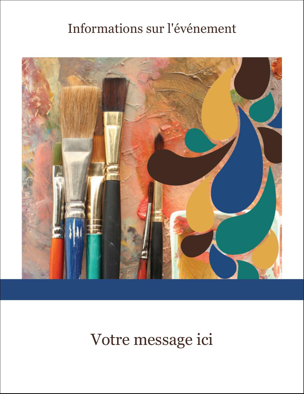 """5½"""" x 4¼"""" Carte Postale - Pinceaux modernes en tons naturels"""