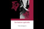 Art noir et rouge  Carte Postale - gabarit prédéfini. <br/>Utilisez notre logiciel Avery Design & Print Online pour personnaliser facilement la conception.
