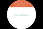 Concept Arc Orange Étiquettes rondes - gabarit prédéfini. <br/>Utilisez notre logiciel Avery Design & Print Online pour personnaliser facilement la conception.