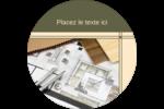 Arche 1 Étiquettes rondes - gabarit prédéfini. <br/>Utilisez notre logiciel Avery Design & Print Online pour personnaliser facilement la conception.