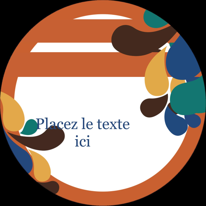 """3"""" Diameter Étiquettes rondes - Pinceaux modernes en tons naturels"""