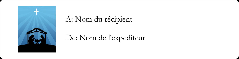 """1"""" x 4"""" Étiquettes d'adresse - Berceau de Noël"""