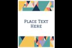 This striking colour palette makes this tangram style versatile.