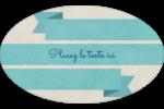 Ruban turquoise Étiquettes carrées - gabarit prédéfini. <br/>Utilisez notre logiciel Avery Design & Print Online pour personnaliser facilement la conception.