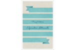 Ruban turquoise Reliures - gabarit prédéfini. <br/>Utilisez notre logiciel Avery Design & Print Online pour personnaliser facilement la conception.