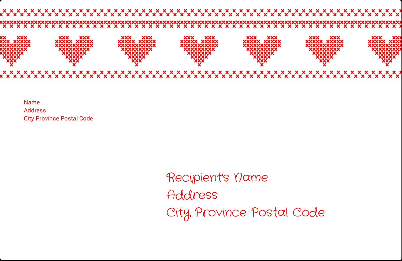 "5½"" x 8½"" Shipping Label - Valentine Cross Stitch"