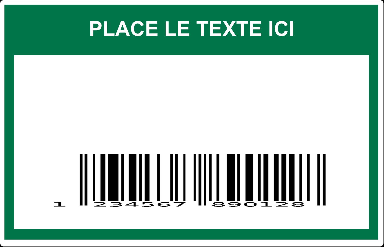 """7½"""" x 5"""" Étiquette Industrielles - Code-barres de série"""