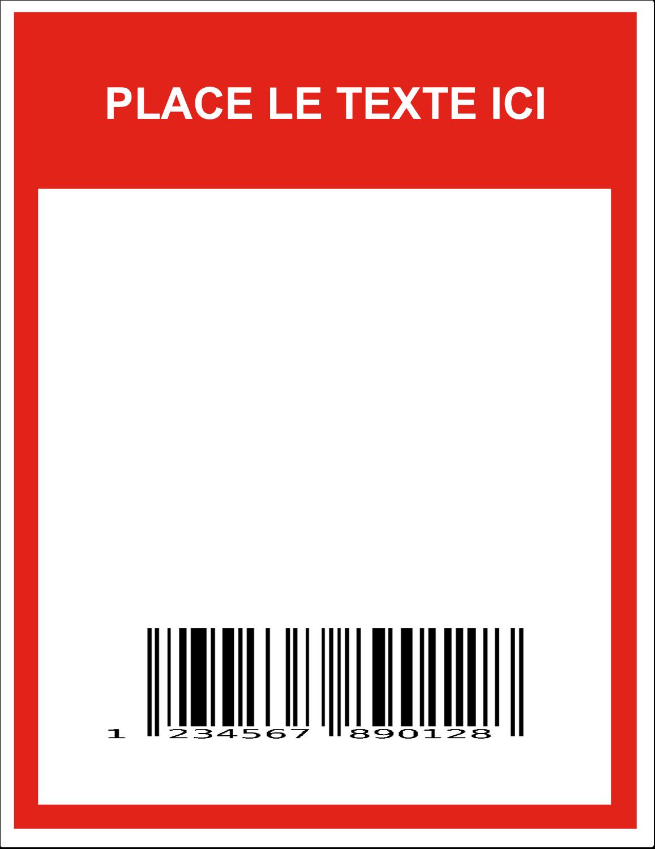 """8½"""" x 11"""" Étiquette Industrielles - Code-barres de série"""